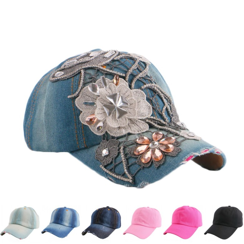 new trendy women beauty baseball cap  handmade lace floral brand hats for woman white black pink fuchsia girl casual snapback 2016 new new embroidered hold onto your friends casquette polos baseball cap strapback black white pink for men women cap