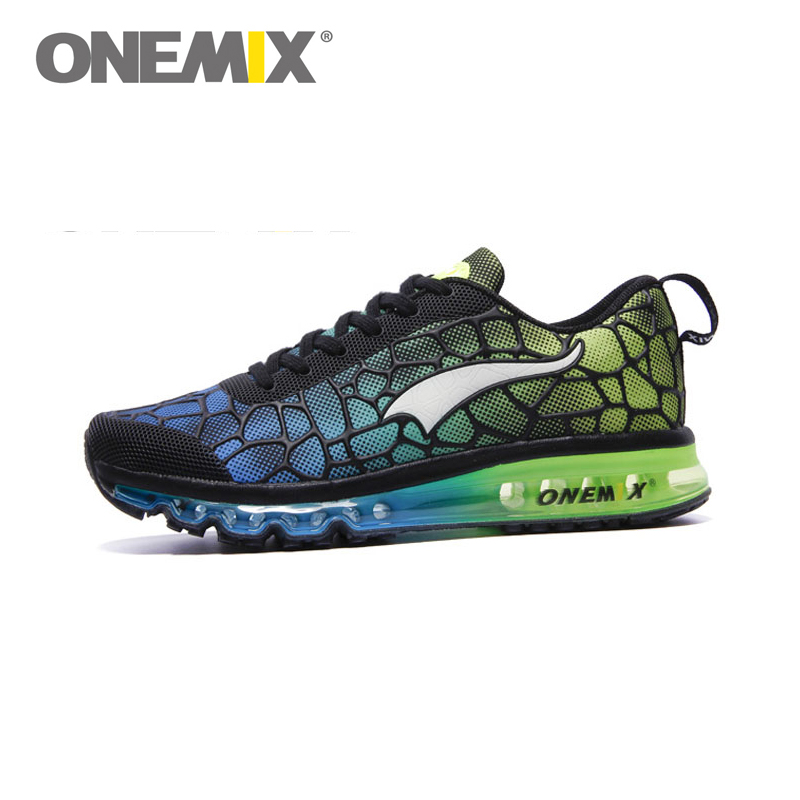 ФОТО Original ONEMIX 2016 Running Shoes Mens Athletic Water Cube Outdoor Sport Shoe Run Sneakers Green Size 40-45 Free Shipping