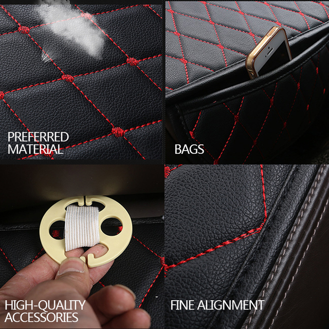Accessories Car Seat Covers PU Leather Seat Cover Automobiles Universal Auto Interior Cushion Four Season Protect Set Chair Mat
