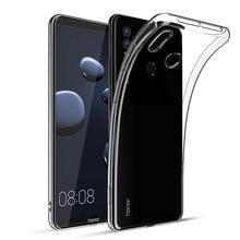 Thin Ultra Slim Fit Crystal Clear Transparent Case for Huawei Honor Note 10 Soft TPU Rubber Gel Bumper Back Cover