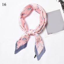 Pleated Small Square Satin Silk Scarf 55x55cm Womens Wrap Handkerchief Bandana Fashion Fold 34 color Bags Neck