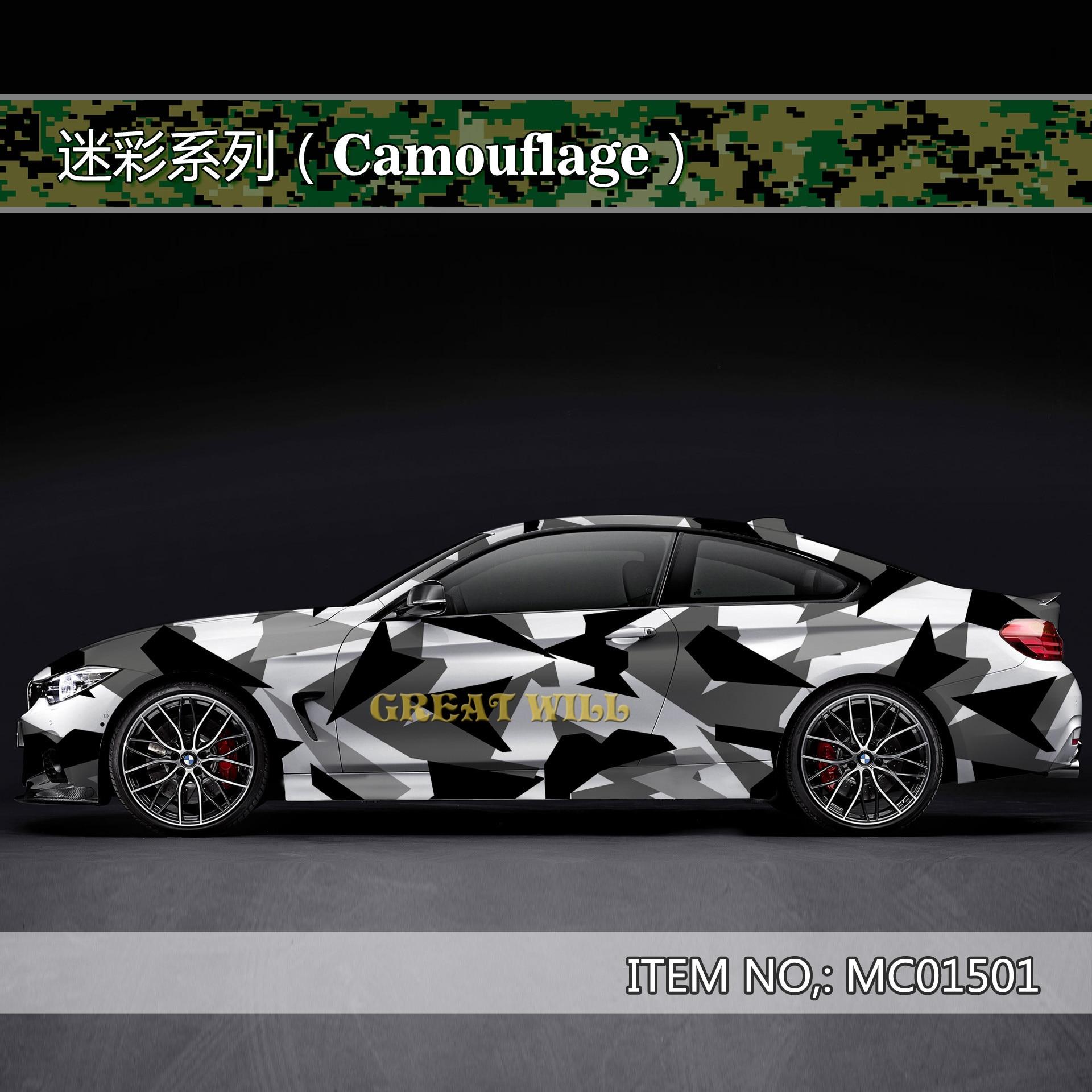 *Premium Green Digital Camouflage Camo Car Vinyl Wrap Sticker Decal Air Release