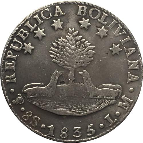 1835 Bolivia 8 Suole COIN COPIA