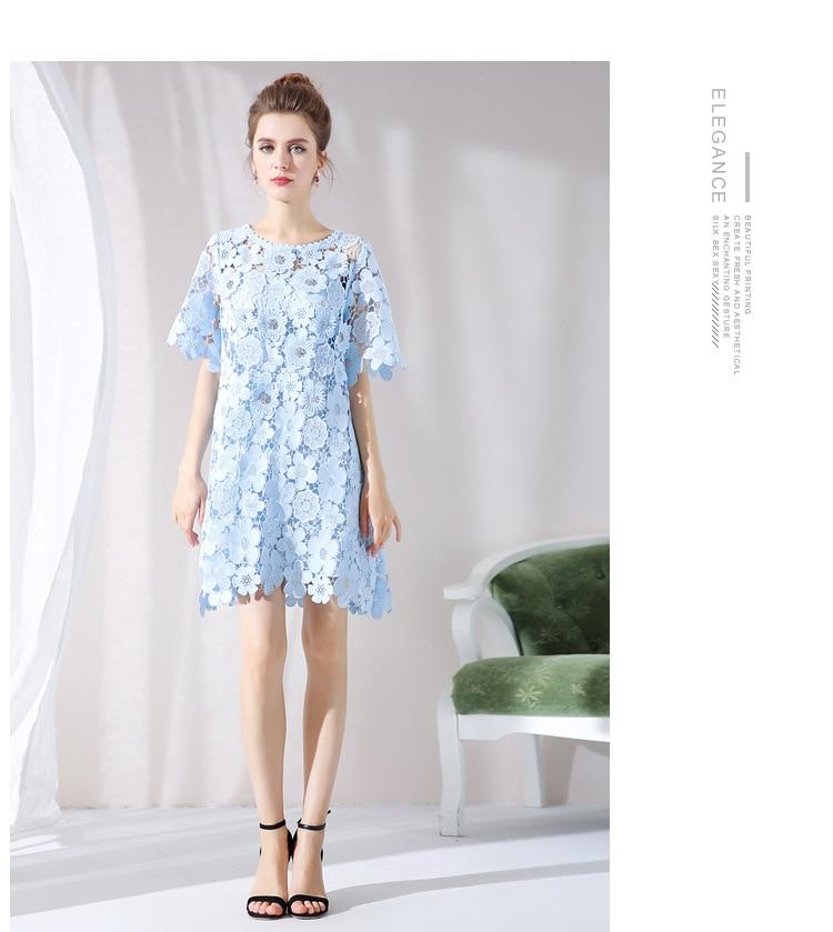 Casual xxxxxl L Sexy De Perlée Dehors Parti Mode Robe D'été New2018 Plus Tunique Style Taille La Creusent Ciel Femmes Pu Élégante Dentelle m08NnOyvw