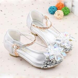 Image 3 - 2019 frühling und herbst neue kinder kristall schuhe Cinderella Prinzessin schuhe mädchen schuhe 26 37