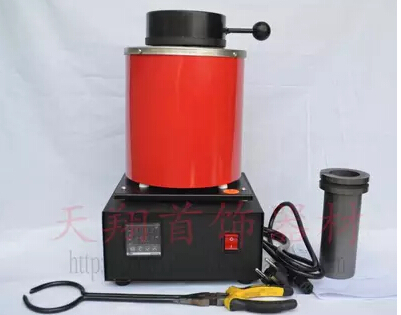 110 Voltage and 2KG Capacity Gold Electric Melting Furnaces with 1pc Graphite Crucible & Plier,Smelting furnace