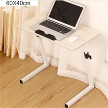 60*40CM 360 Degrees Rotate Height-Adjustable Laptop Table Flower Print Notebook Table Lazy Bedside Table Modern Computer Desk