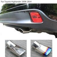 Saída do carro silenciador exterior extremidade tubo dedicar ponta de escape saída cauda para toyota highlander 2008 2009 2010 2011 2012 2013 2014