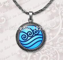 Water Tribe Necklace Avatar the Last Airbender Jewelry Glass Dome Pendant NecklaceHZ1