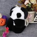 17cm Animal Panda Bag CharmReal Rabbit Fur Pom Poms Bag Bug  Monster Bag Bugs Charm Genuine Fox Fur Pompom Keychain Pendant