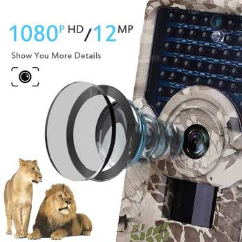 Newest HD 1080P Hunting Camera 12MP 49pcs 940nm Infrared LEDs Night Vision Hunting Traps Wildlife Trail Camera Animal Photo Trap 2