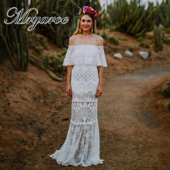 Mryarce 2019 Elegant Off The Shoulder Exclusive Lace Boho Hippie Wedding Dress Chic Bridal Mermaid Gowns vestido de noiva - DISCOUNT ITEM  15% OFF All Category
