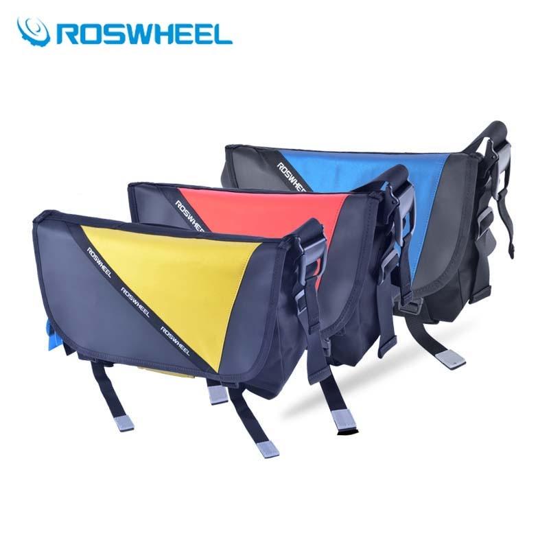Cycling Messenger Bag Outdoor MTB Road Bicycle Riding Waterproof Bike Bag Shoulder Bag Red/Blue/Yellow 9L/14L/21L New Roswheel