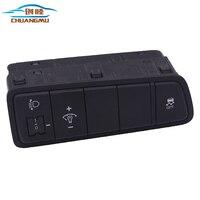 Für Hyundai Tucson 201520162017 ABSMatte Chrom Auto Front Scheinwerfer Control Button Switch Abdeckung Molding Trim Innen Zubehör