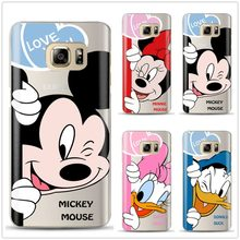 Leuke Mickey Minnie Siliconen Case Cover Voor Coque Samsung Galaxy S6 S7 Rand S8 S9 Plus J3 J4 J5 J6 j7 2017 Note 8 A6 A8 Plus 2018(China)