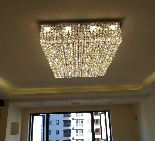 Hot selling flush mount l800w600h200mm square modern crystal hot selling flush mount l800w600h200mm square modern crystal chandelier led lights for home in chandeliers from lights lighting on aliexpress aloadofball Choice Image