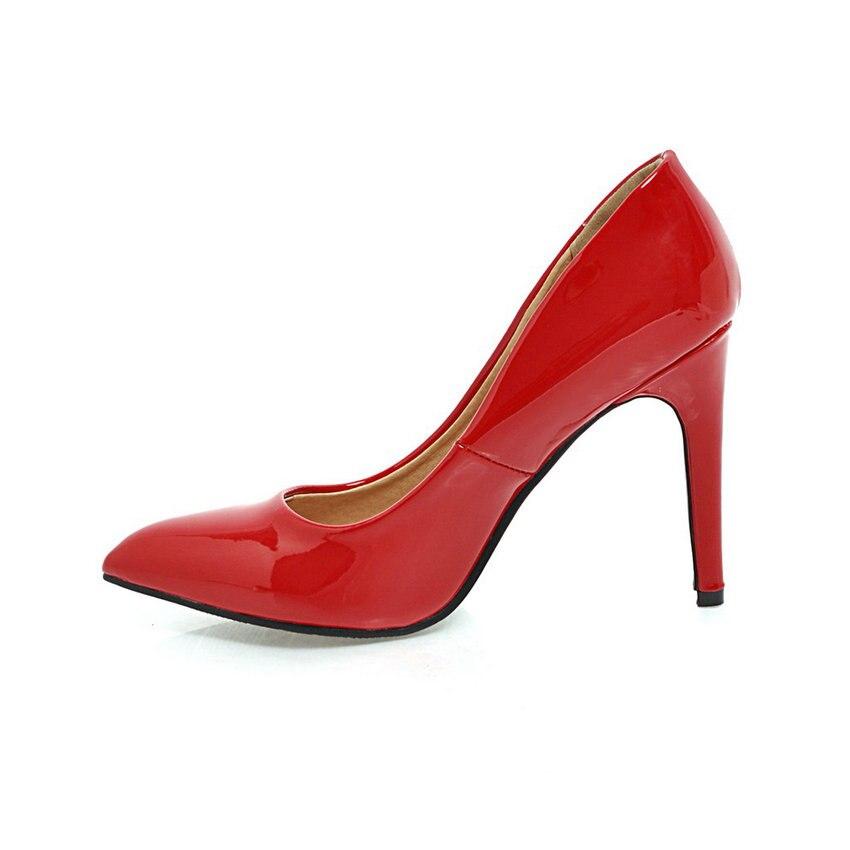 ESVEVA 2018 Women Pumps Slip on shallow Elegant Thin High Heels Pointed Toe Elegant Wedding Pumps Women Shoes Size 34-43 Lahore