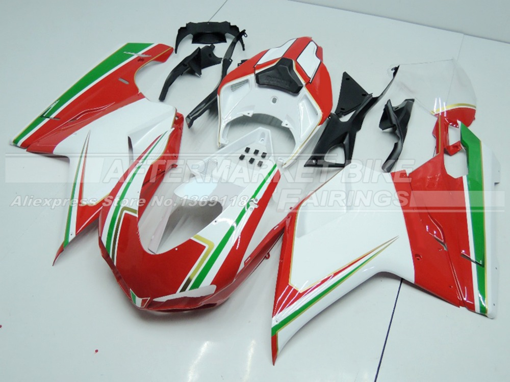 DUCATI-848-1098-1198-2007-2012-WHITE-AND-RED-WITH-GREEN-STRIPE-1