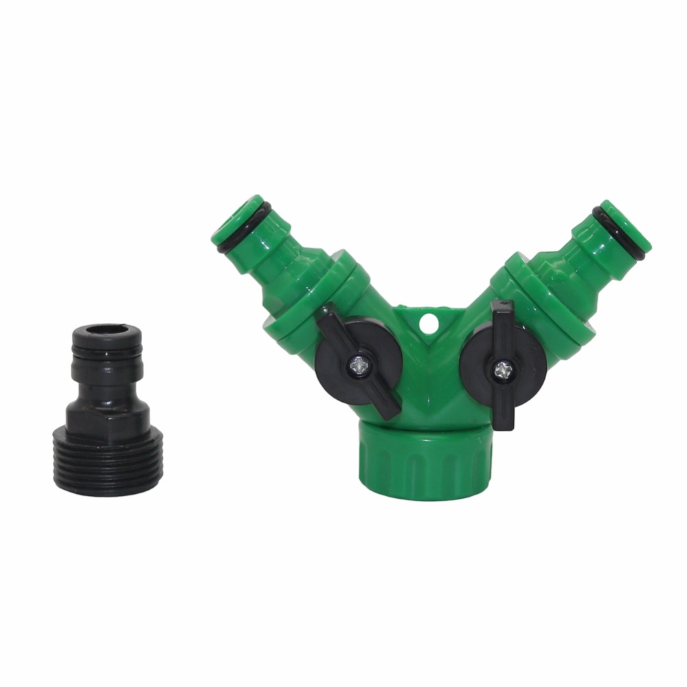 """HTB1lTGahcnI8KJjSspeq6AwIpXam 1set 3/4""""Female Thread Y Shape Connector With 3/4""""Male Thread Tap Nipple Joint Quick Coupling Drip Garden Irrigation System tool"""