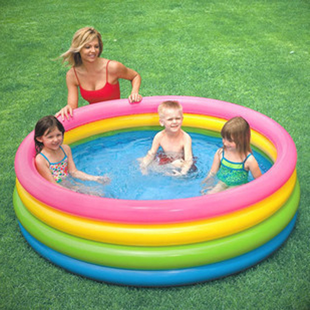Fluorescent Children Inflatable Swimming Water Pool 16846CM Home Use Outdoor Bathtub Game Playground Piscina