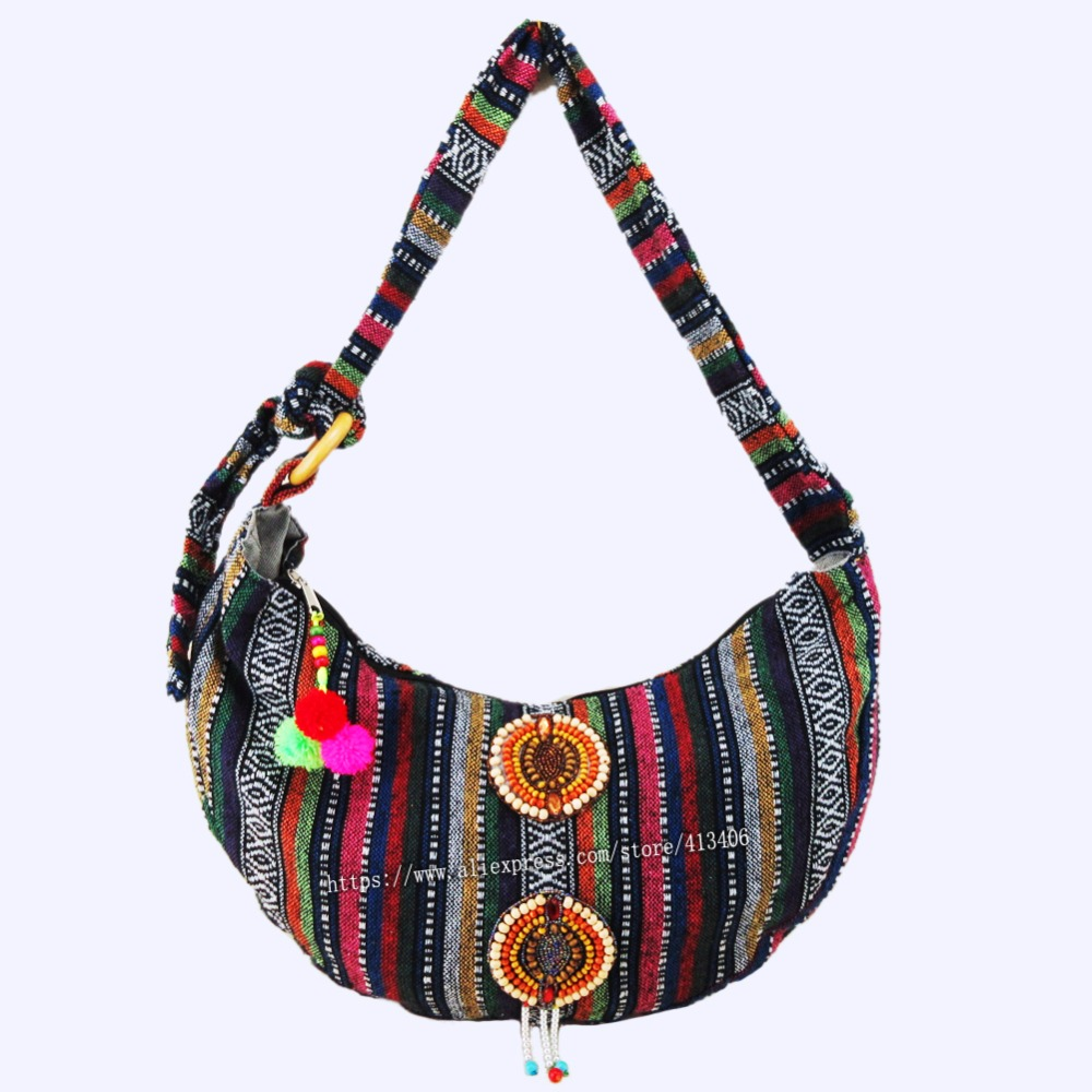 Vintage hmong Boho Tribal étnico indio indio Boho bolso de mano - Bolsos - foto 3