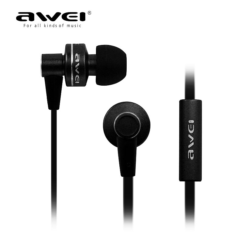 все цены на  Hot Sale Genunie AWEI ES-900M In Ear Earphone Super Bass Noise Isolating For MP3 Player MP4 Earpods  онлайн