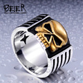 Beier new store 316L Stainless Steel ring high quality fashion biker skull ring personality men jewelry  BR8-112