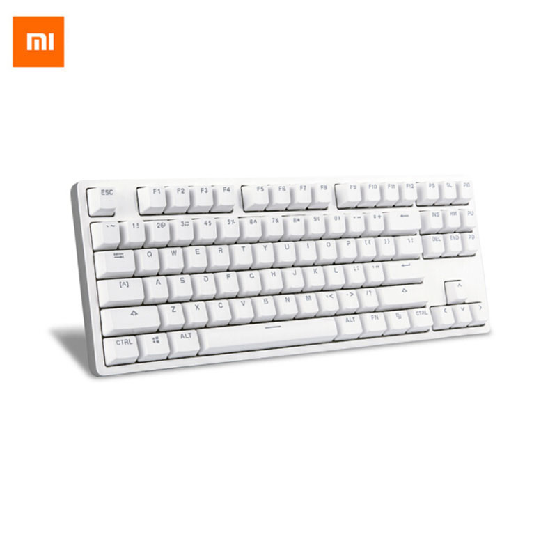 Xiaomi Keyboard Wired MK01 87 keys TTC Backlight Aluminium Alloy Mechanical Gaming Keyboard LED Backlit for Gamer Laptop PC 81 key rgb backlit mechanical gaming keyboard usb wired blue switch led backlight gaming keyboard for gamer pc laptop