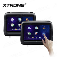 10 1 Touch Screen Universal HDMI 1080P Car Headrest DVD Player Pillow Monitor Leather Cover Speaker