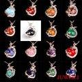 JUWEILI Jewelry Hot Sale Natural Stone Silver Plated Dragon Ball Bead Reiki Pendulum Pendant Charms Super Man Amulet Mixed 17pcs