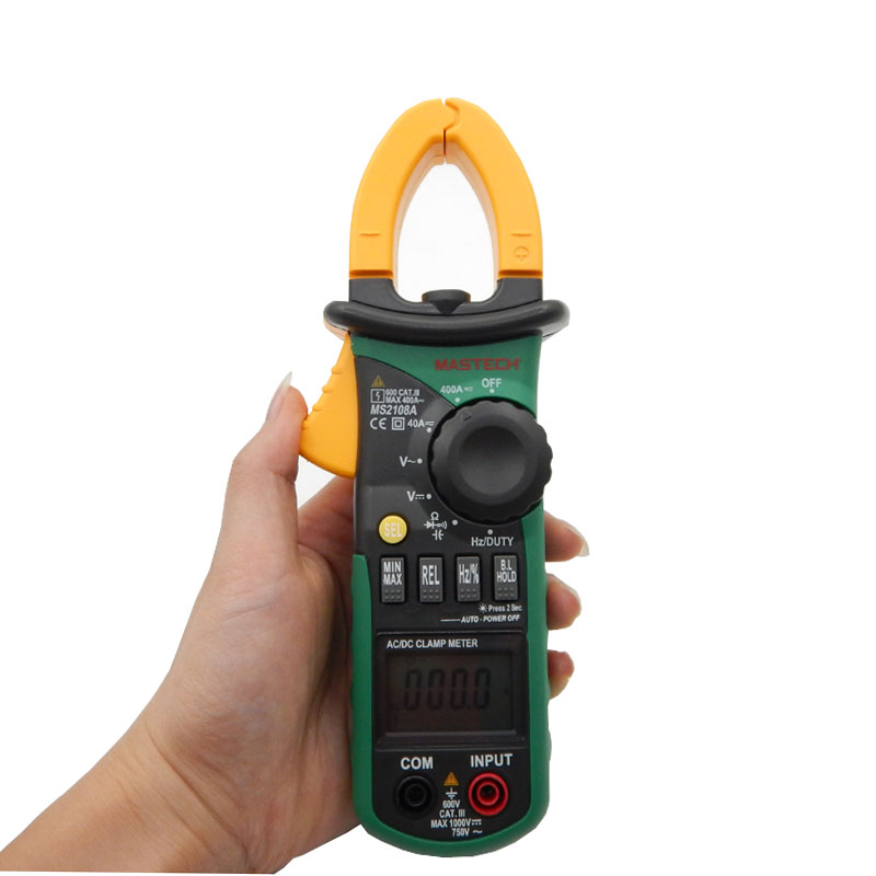 ФОТО MASTECH MS2108A Auto range Digital Clamp Meter Multimeter DC AC Current Voltage Frequency Meter Tester with Backlight