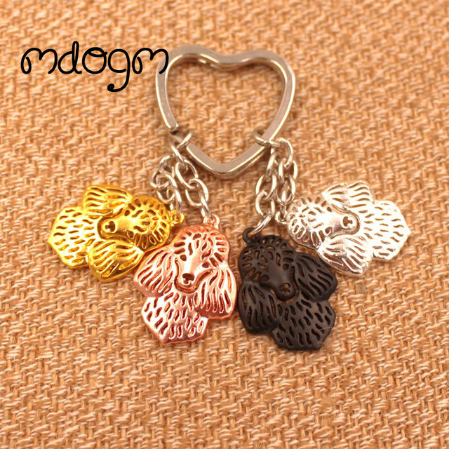 2018 Cute Poodle Dog Animal Purse Handbag Charm Handmad Metal Pendant Keychain For Bag Car Women Men Key Ring Love Jewelry K013