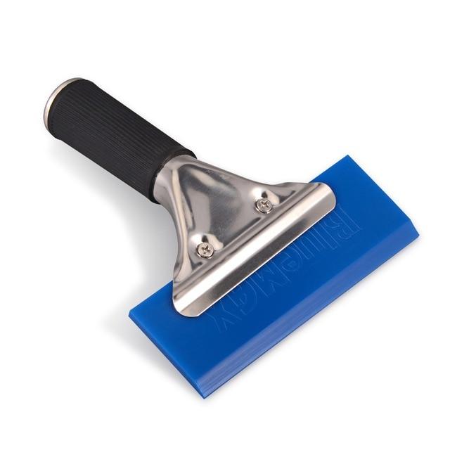 EHDIS – raclette à manche avec lame en caoutchouc BLUEMAX, essuie glace de voiture, pelle à neige, teinte de fenêtre, outil de nettoyage domestique de cuisine