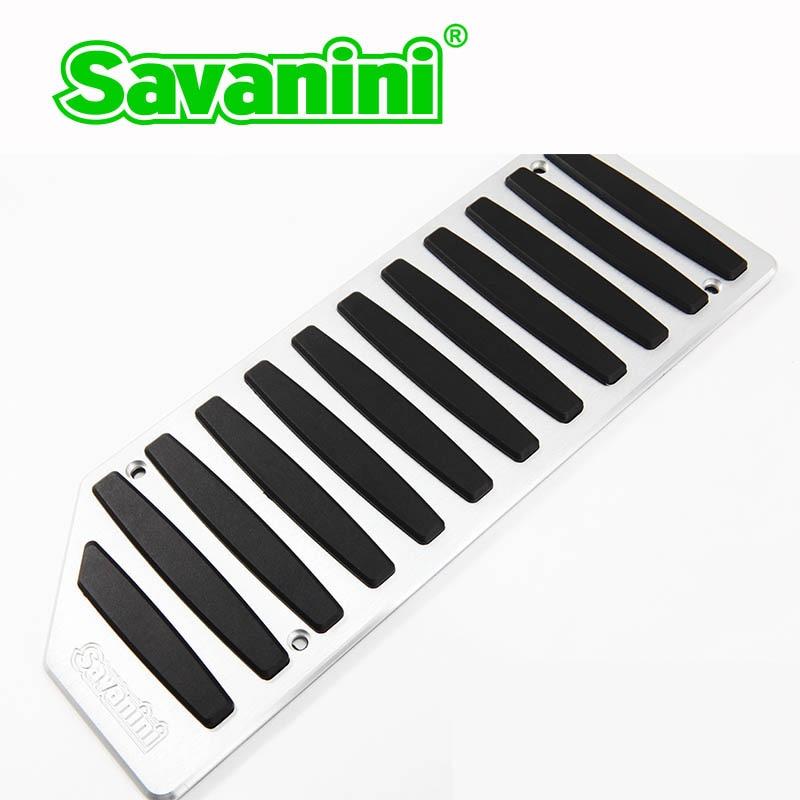 Savanini подножка сцепления педаль тормоза и газа Pad комплект для VW Polo/Lamando/Bora/Jetta/Audi A1 AT/MT. Алюминий на нескользящей подошве - Название цвета: footrest pedal