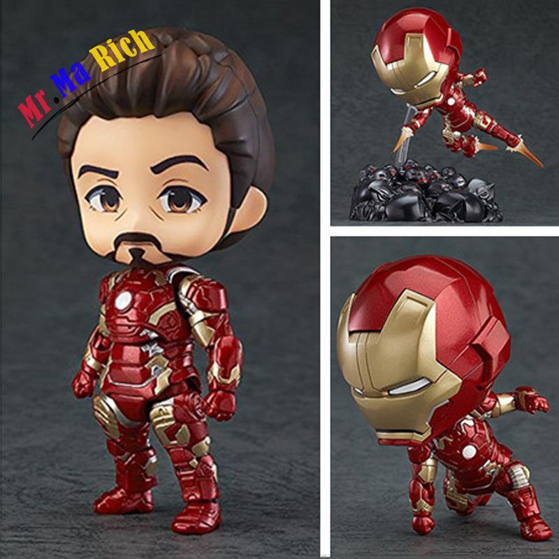Nendoroid Carino Q Ver. Avengers 2 Iron Man Mk43 Action Figure In Pvc Statue 10 Cm Da Collezione Senza Scatola (versione Cinese)