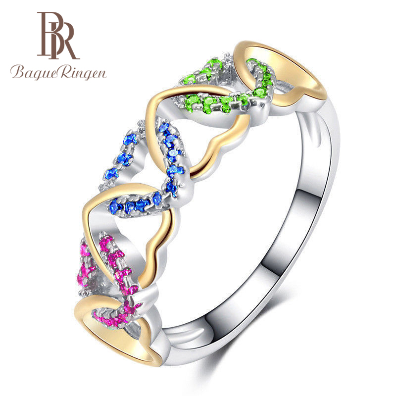 Bague Ringen High-quality Heart Gemstone 100% 925 Sterling Silver for Women Wedding Engagement Fine Jewelry wholesale