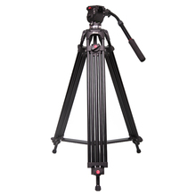 Jie Yang  tripod jy0606 professional camera tripod jy-0606 SLR tripod damping head 75MM Compatible with Manfrotto