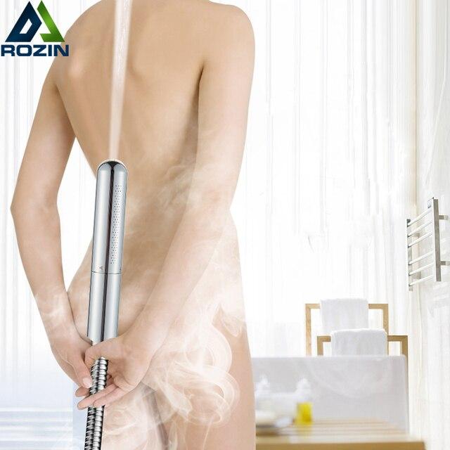 100% Brass Chrome Handshower 2 Function Shower Faucet Replace Head Bathroom Toilet Sprayer Bidet Head Handheld Bidet Sprayer