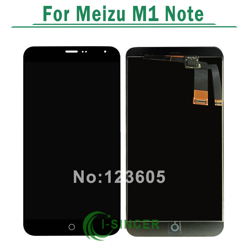 1/PCS tested 5.5 black color lcd display+touch screen digitizer assembly repair parts for Meizu m1 note free shipping