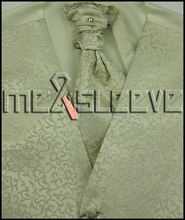 New ivory Five Button Tuxedo Vest with Matching cufflinks