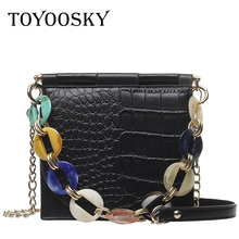 TOYOOSKY Fashion Ladies Crocodile Flap Bag Designer Handbags Women Bags 2019 Luxury Small Day Clutch Chain Girls Crossbody