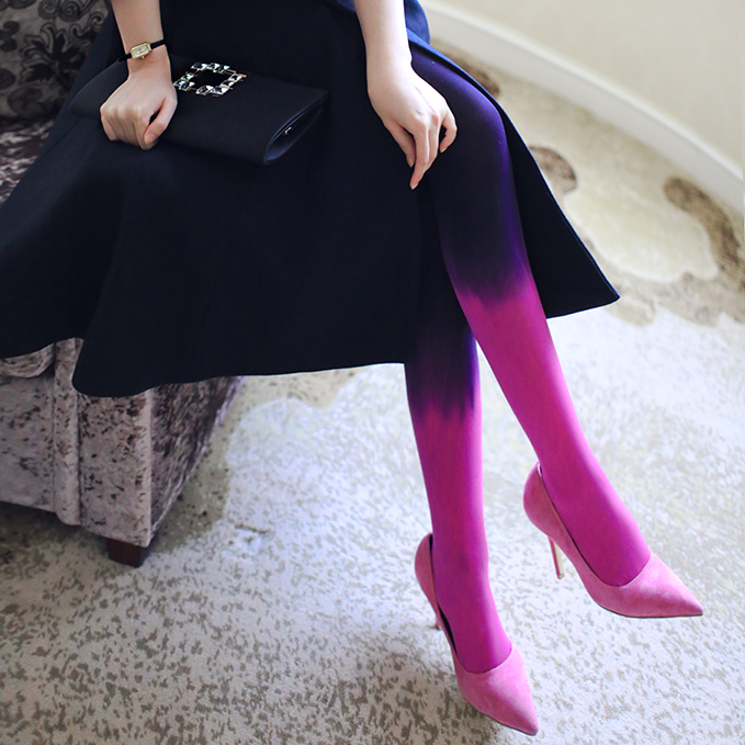HSS Brand Spring and autumn gradient color cute stockings velvet personalized retro sexy pantyhose Women tights