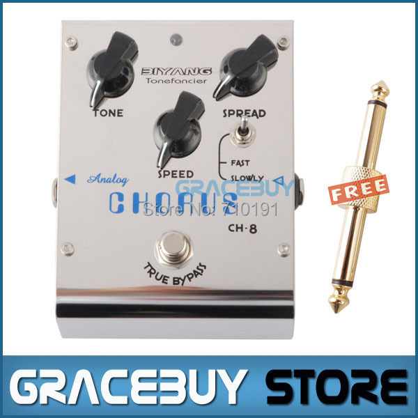 Biyang CH-8 Analog Chorus Electric Guitar Bass Effect Pedal True Bypass Brand New electric guitar pedal bass true bypass effect white custom biyang controls level top treble guitarra pedales new