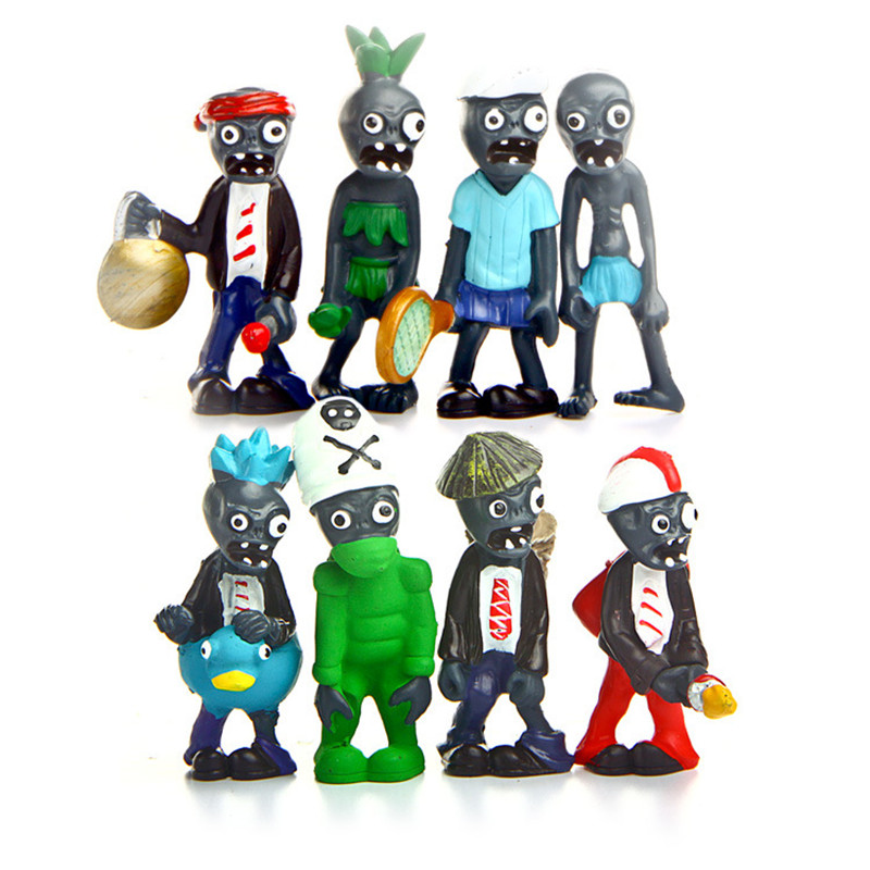 Hot Popular Game Plants vs Zombies Model PVC Action Figure Model Toys  8pcs/set Plants Vs Zombies 3 Toys for Baby Gift-in Action & Toy Figures  from Toys ... - Hot Popular Game Plants Vs Zombies Model PVC Action Figure Model