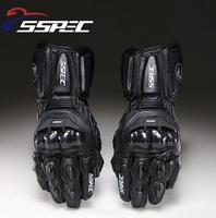 SSPEC Carbon Fiber Motorcycle Gloves GP PRO Leather Glove Men Cycling Racing Guantes Moto Motorbike Luvas