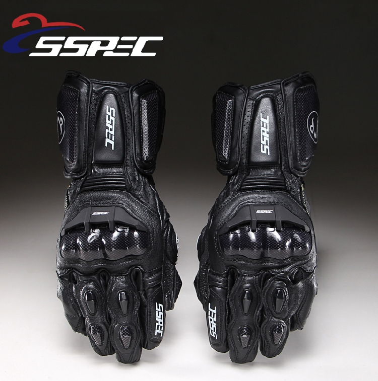 SSPEC Carbon Fiber Motorcycle Gloves GP PRO Leather Glove Men Cycling Racing Guantes Moto Motorbike Luvas racmmer cycling gloves guantes ciclismo non slip breathable mens