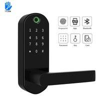 YOHEEN Умный Замок с Биометрическим распознаванием с цифровым паролем RFID ключ для Карты Электронный смарт замок двери отпечатков пальцев
