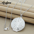ANDARA New Brand Fashion 925 Silver Jewelry Photo Locket Necklace Pendant For Women Men Long Chain Necklace N308