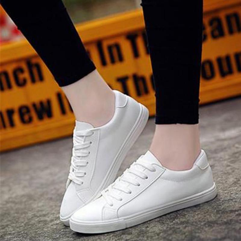 Femmes Printemps Noir Toile Bracelet blanc Cuir En Plat Chaussures 2017 Occasionnels Blanc Nouveau zOwCx5FnqT