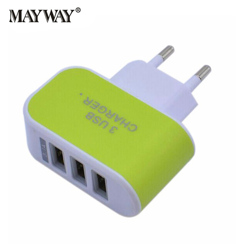 Universal 3 USB Port Power plug US EU Adapter Charger Fast Wall Travel Charging For iPho ...